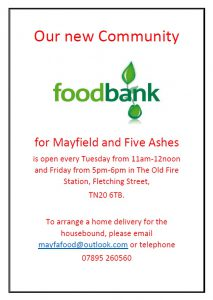 Poster for Mayfield foodbank