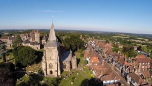 Aerial view of Mayfield looking over St. Dunstans and the High Street