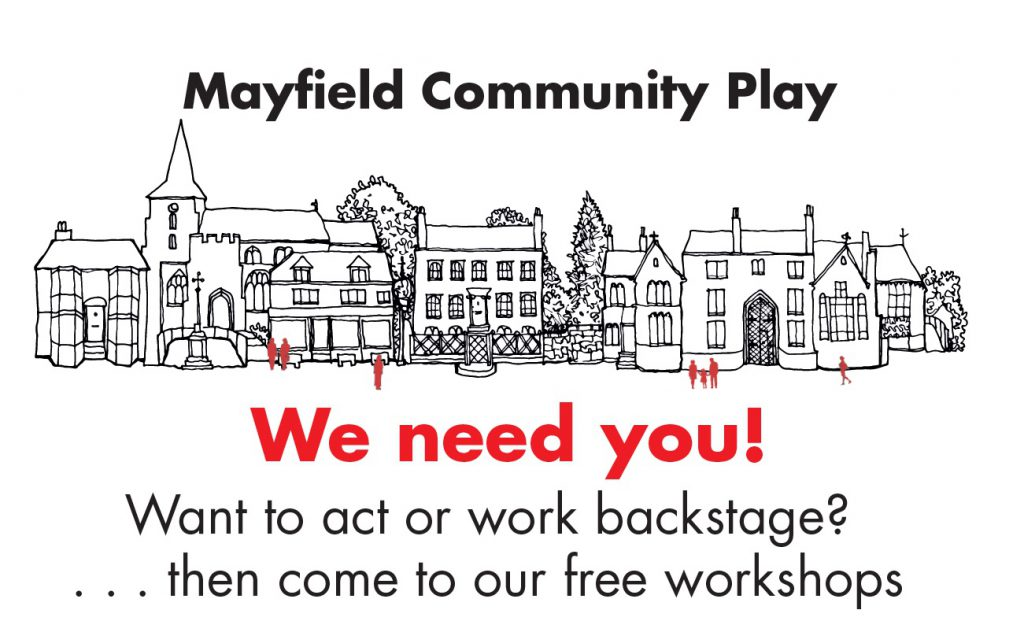Recruitment poster for Mayfield Community Play