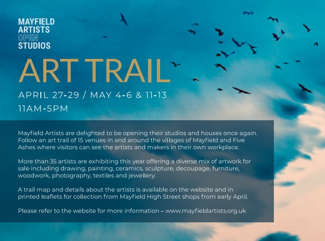 Poster for the Mayfield Art Trail Apr-May 2018