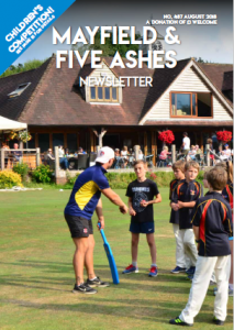 Cover page of the August 2018 edition of the Mayfield and Five Ashes newsletter