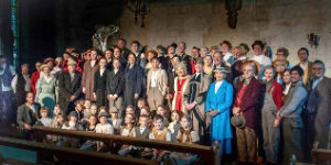Small photo of the cast of Mayfield Community play which was performed in October 2018