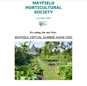 Poster for Mayfield Horticultural Society Virtual Summer Show